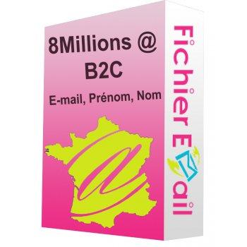Fichier de 8 Millions Emails France Particuliers B2C Opt-in
