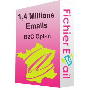 Fichier de 1,4 Millions Emails France Particuliers B2C Opt-in
