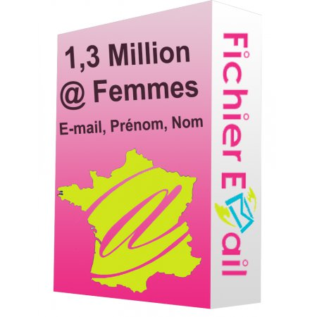 1,3 Million Emails Femmes France B2C