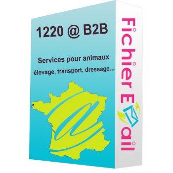 Services pour animaux: élevage, transport, dressage...