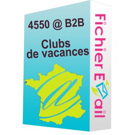 Fichier des clubs de vacances