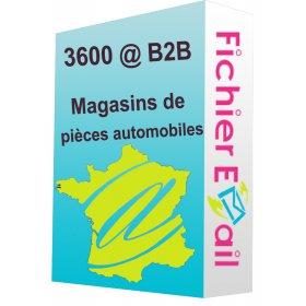 Fichier des magasins de pièces automobiles