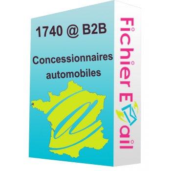 Fichier des concessionnaires automobiles