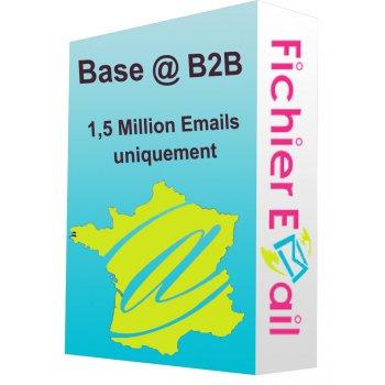 Fichier de 1,5 Million Emails Entreprises (E-mails uniquement) - France B2B