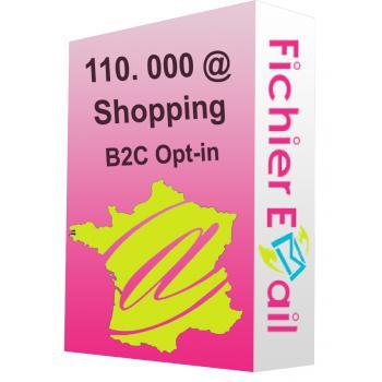 Fichier de 135.000 Emails France shopping - Acheteurs en ligne