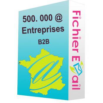 Fichier de 500.000 Emails Entreprises (E-mails uniquement) - France B2B