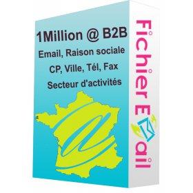 1 Million Emails Entreprise Qualifiés - France B2B