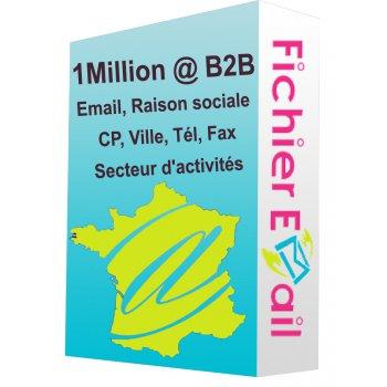 1,4 Million Emails Entreprises Qualifiés - France B2B