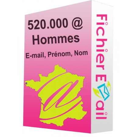 520.000 Emails Hommes France B2C