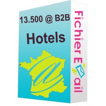 Fichier e-mails Hotels qualifiés 2016